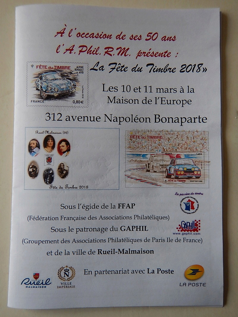 Fête du Timbre 2018 Le Carré d'Encre Paris et Rueil-Malmaison 92 (Hauts de Seine) samedi 10 mars Dscn5718