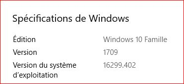 Mise à jour Cumulative KB4093105 Windows 10 version 1709 40210