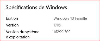 Mise à jour cumulative KB4088776 windows 10 version 1709 Maj11
