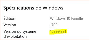 Mise à jour cumulative KB4093112  Windows 10 - version 1709 Maj12