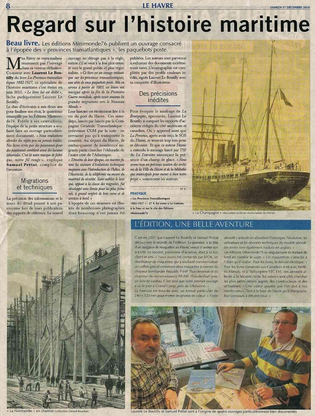 Paquebot Poste - Les Provinces transatlantiques 2016-138