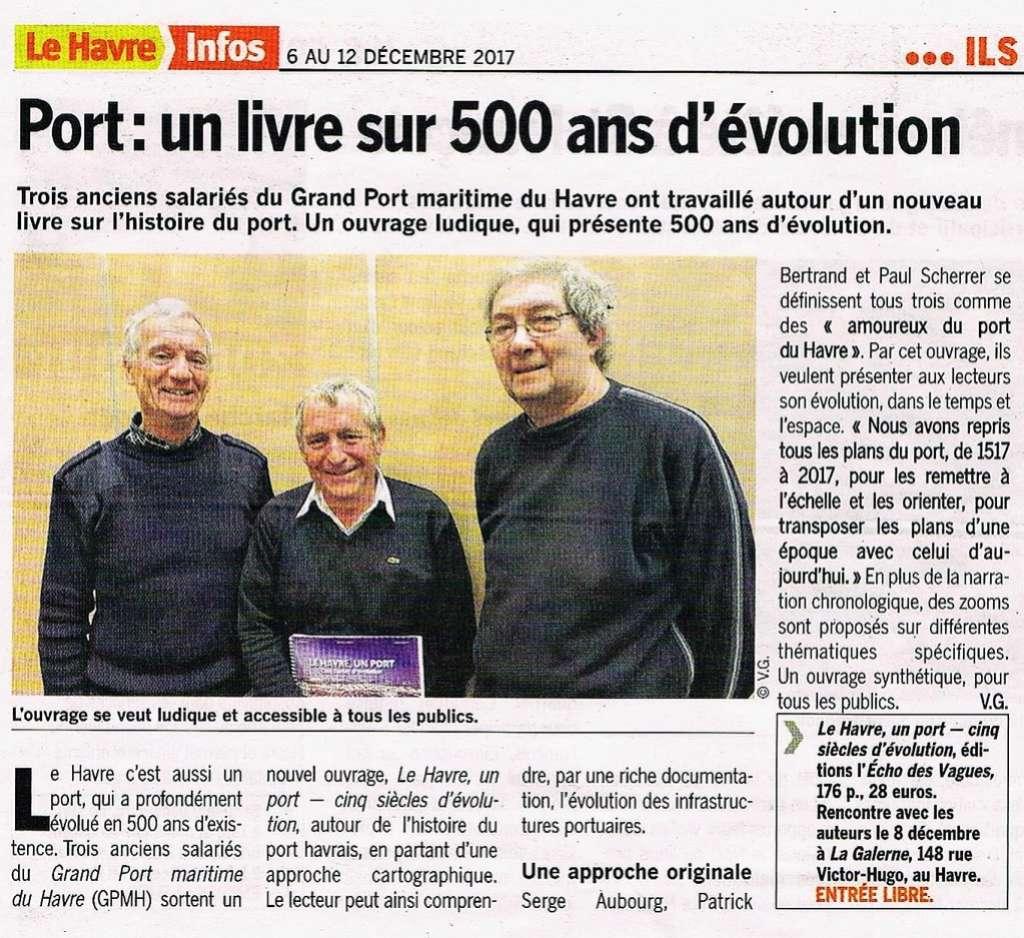 Havre - Le Havre, un port - 5 siècles d'évolution par AUBOURG BERTRAND SCHERRER 2017-131