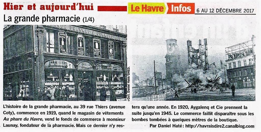 Havre - Le Havre - La grande pharmacie rue Thiers  2017-143