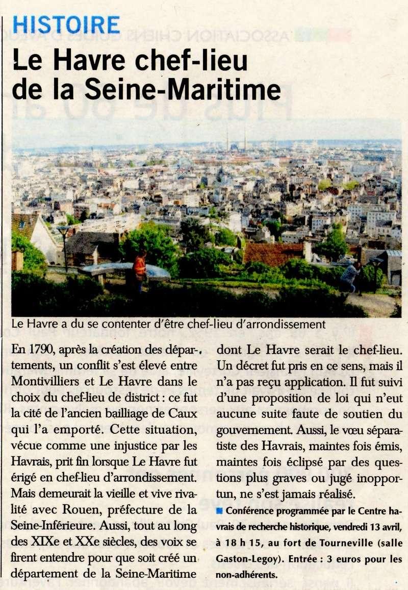 Havre - Le Havre chef-lieu de la Seine-Maritime (conférence CHRH) 2018-037