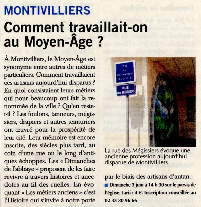 Comment travaillait-on au Moyen âge à Montivilliers ? 2018-055