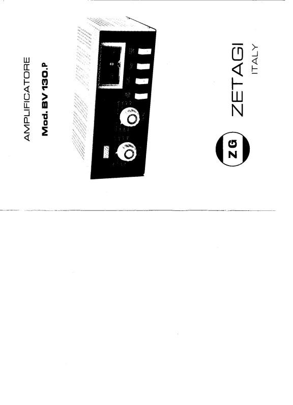 [TROUVE] Notice d' utilisation et réglages ZETAGi BV130P Bv130p11