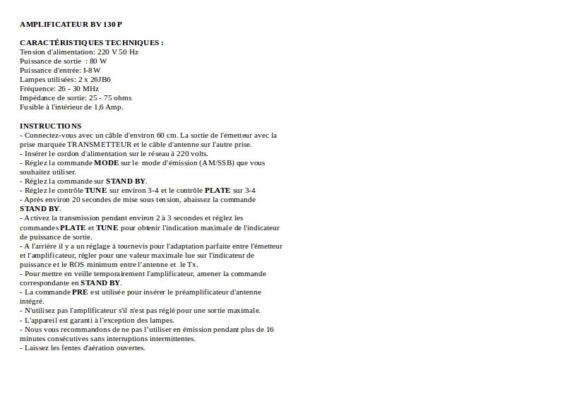 [TROUVE] Notice d' utilisation et réglages ZETAGi BV130P Notice10
