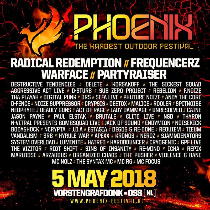 Phoenix - The Hardest Outdoor Festival - 5 Mai 2018 - Vorstengrafdonk - Oss - NL 26231410