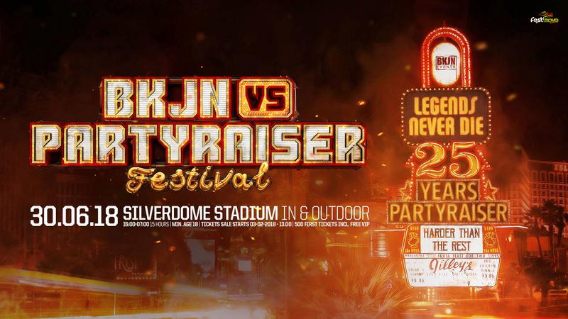 BKJN vs. Partyraiser Festival - 25 Years Partyraiser - Samedi 30 Juin 2018 - SilverDome - Zoetermeer - NL  26952111