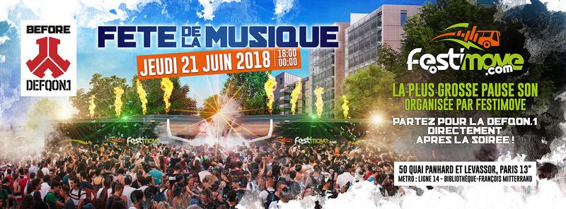 FETE DE LA MUSIQUE 2018 by FESTIMOVE - JEUDI 21 JUIN 2018 - PARIS Cover-10