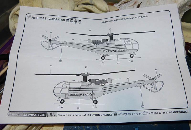 SUD AVIATION SA 319 ALOUETTE III prototype 1/100ème Réf CADET 79745 - Page 2 Alcade37