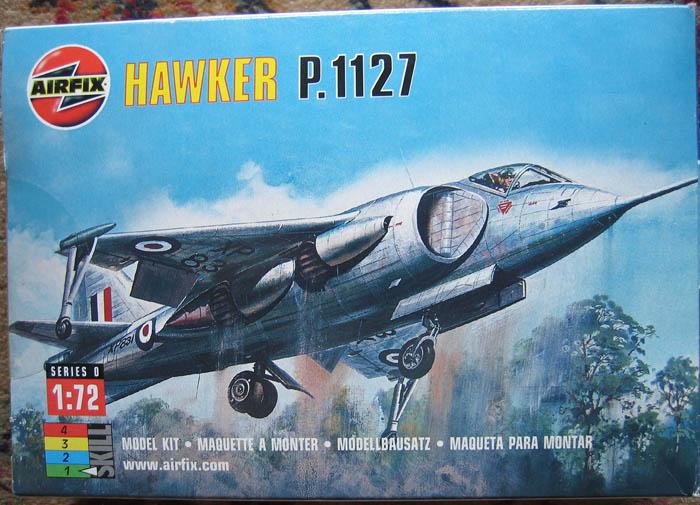 Hawker P1127 Prototype du célèbre Harrier bien connu - Base Airfix - 1/72. Harrie10
