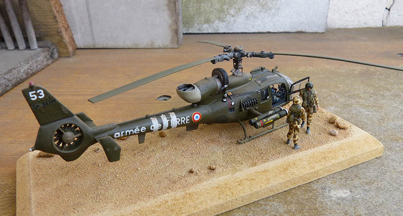 "Gazelle ""Daguet"" - Base Airfix (additif Heller) - 1/72. Hot_7514"