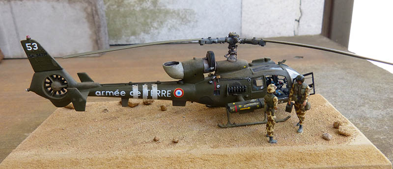 "Gazelle ""Daguet"" - Base Airfix (additif Heller) - 1/72. Hot_7614"