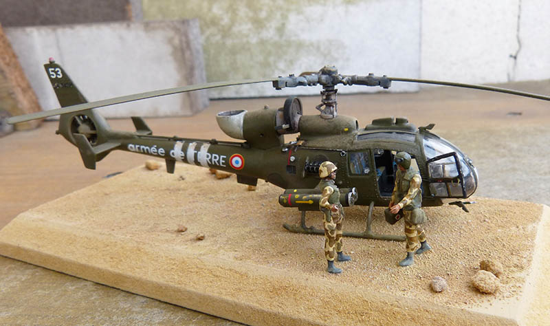 "Gazelle ""Daguet"" - Base Airfix (additif Heller) - 1/72. Hot_7712"