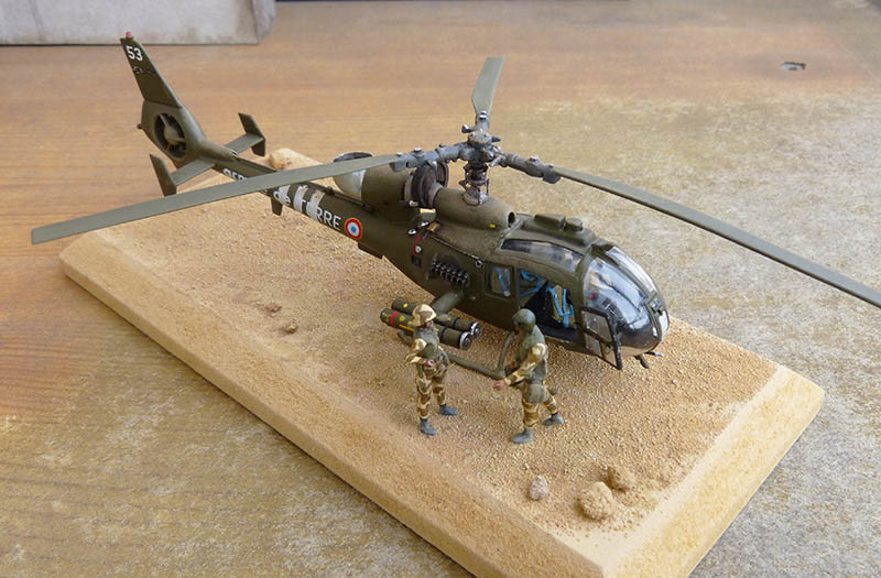 "Gazelle ""Daguet"" - Base Airfix (additif Heller) - 1/72. Hot_7812"