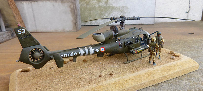 "Gazelle ""Daguet"" - Base Airfix (additif Heller) - 1/72. Hot_8015"