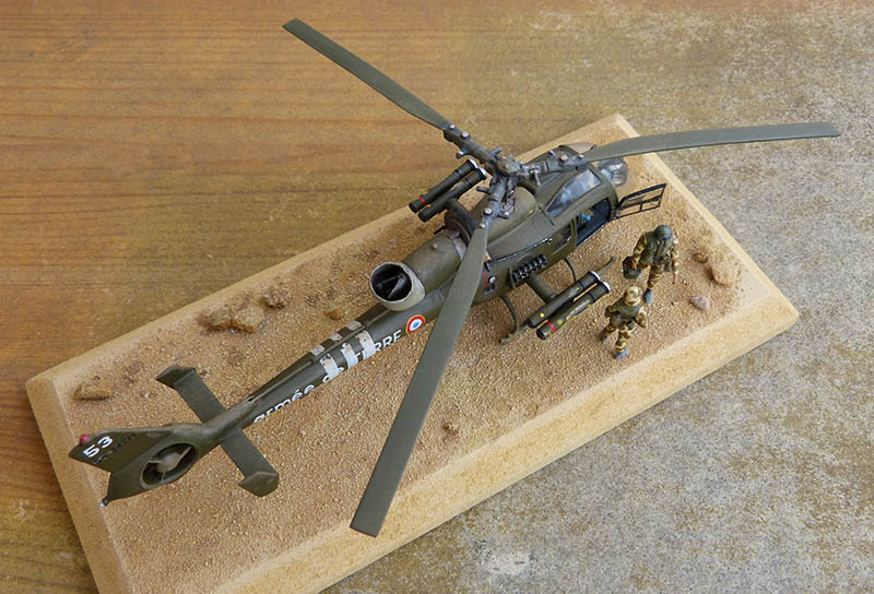 "Gazelle ""Daguet"" - Base Airfix (additif Heller) - 1/72. Hot_8115"