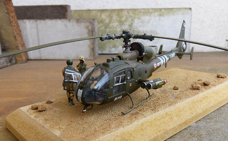 "Gazelle ""Daguet"" - Base Airfix (additif Heller) - 1/72. Hot_8315"
