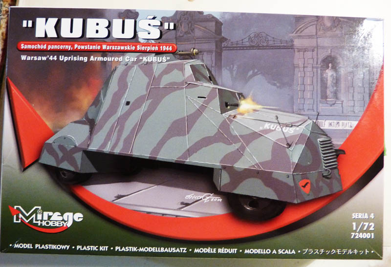 """Kubus"" blindé improvisé polonais à Varsovie 1944 - Mirage Hobby - 1/72. Kubus_10"