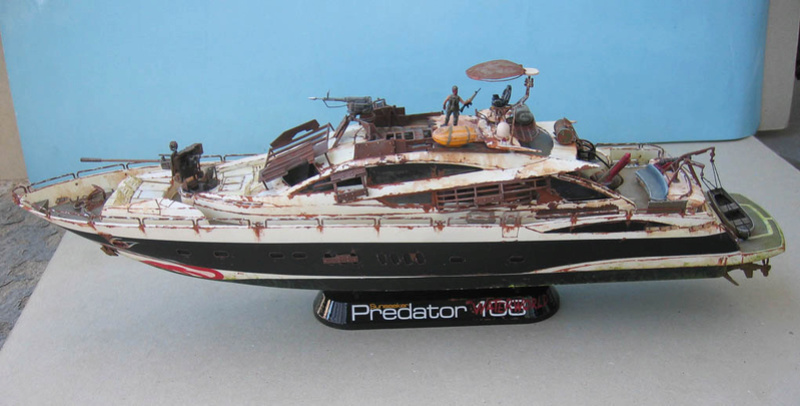 "Yach Predator ""WaterWorld"" - Conversion Revell - 1/72. Predat10"