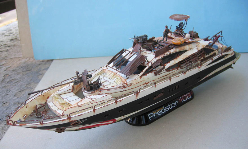 "Yach Predator ""WaterWorld"" - Conversion Revell - 1/72. Predat12"