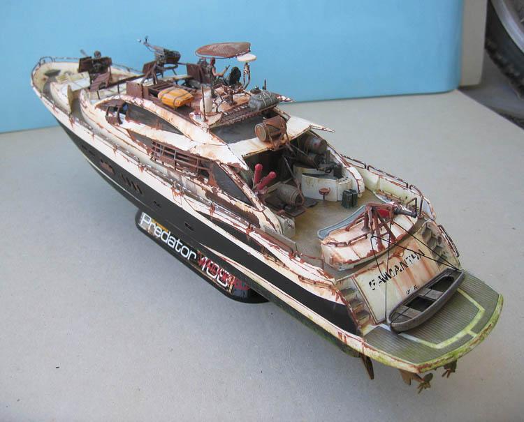 "Yach Predator ""WaterWorld"" - Conversion Revell - 1/72. Predat13"