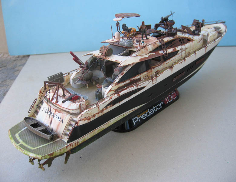 "Yach Predator ""WaterWorld"" - Conversion Revell - 1/72. Predat14"