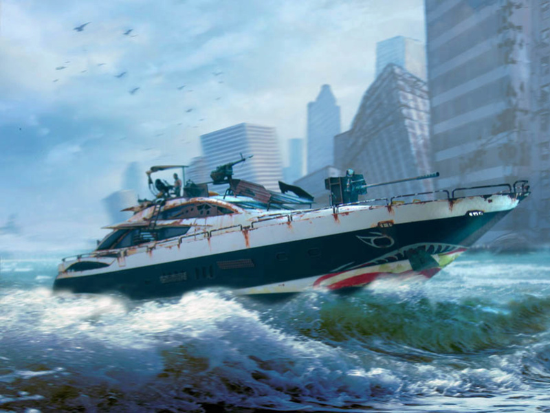 "Yach Predator ""WaterWorld"" - Conversion Revell - 1/72. Predat18"