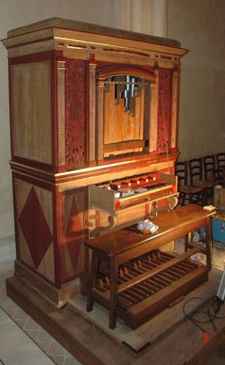 Le petit orgue de l'église de Cergy Cergyr10