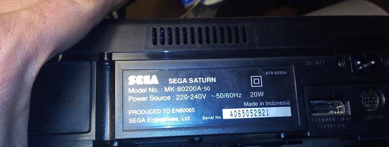 [VDS] Saturn console, ARpucée, 2 jeux CHANGEMENT DE PRIX Sat410