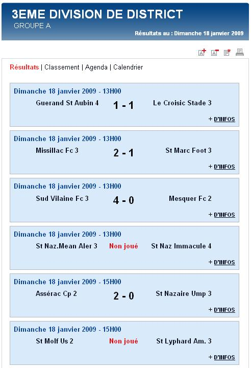 Guérande St Aubin 4  [1 - 1]   Le Croisic Stade 3 (Dimanche  18 janvier 2009) Senior10
