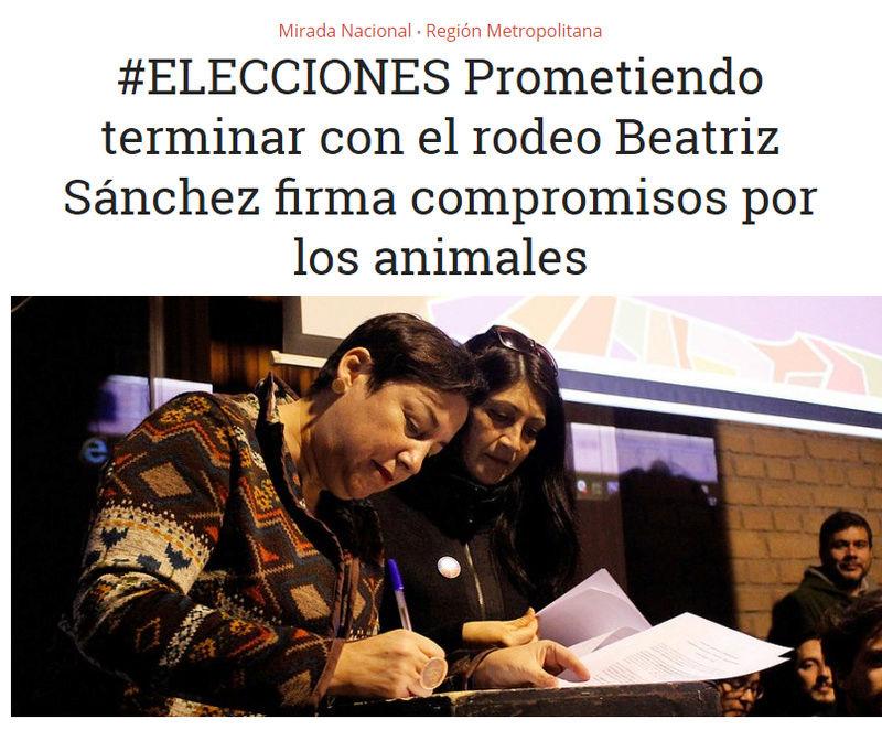 BEATRIZ SANCHEZ  ANIMALISTA Y FIRMO COMPROMISO TERMINO RODEO Beatri10