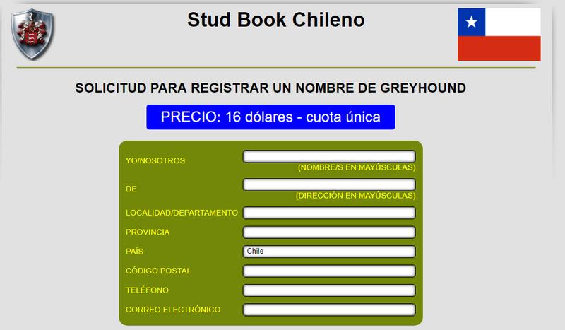 INSCRIBIR PERROS EN EL GREYHOUNDA-DATA Data210