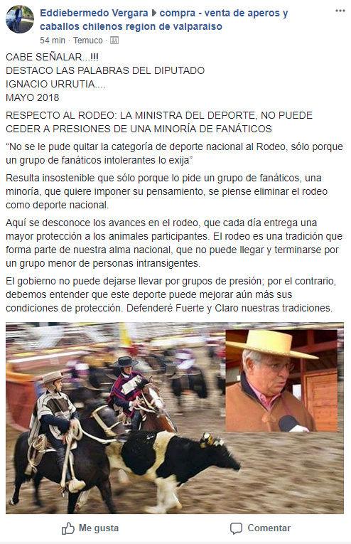DIPUTADO CHILENO DICE NO A LOS ARGUMENTOS VEGANOS EN CHILE Diputa10