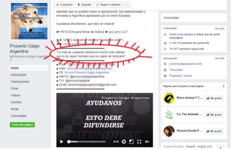 PGA PAGINA DE ODIO - WEB ARGENTINA VEGANISTA INCITA AL ODIO A LOS SERES HUMANOS Galgo_13