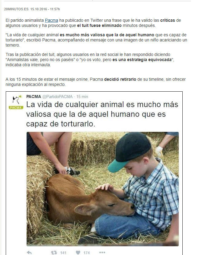 PGA PAGINA DE ODIO - WEB ARGENTINA VEGANISTA INCITA AL ODIO A LOS SERES HUMANOS Pacma210