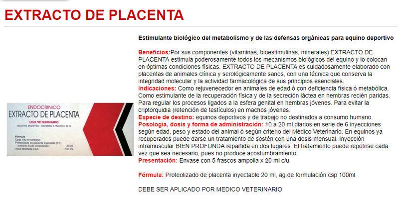 EXTRACTO DE PLACENTA 20 ML $ 18.000.- Placen10