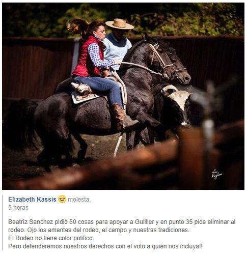 BEATRIZ SANCHEZ  ANIMALISTA Y FIRMO COMPROMISO TERMINO RODEO Rodeo10