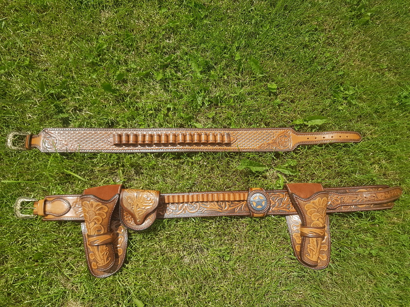 Ensemble complet CAS (ceinturon, holster, shotgun belt ..) 20180515