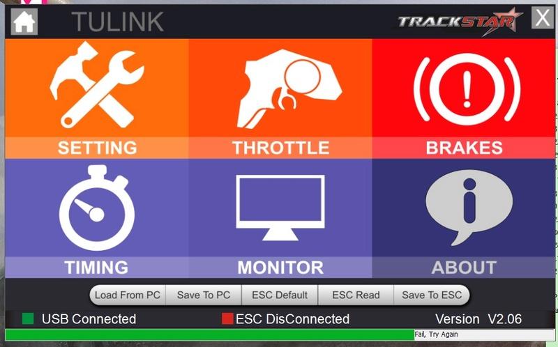 Programmation impossible ESC Turnigy trackstar 120 A Tp0310