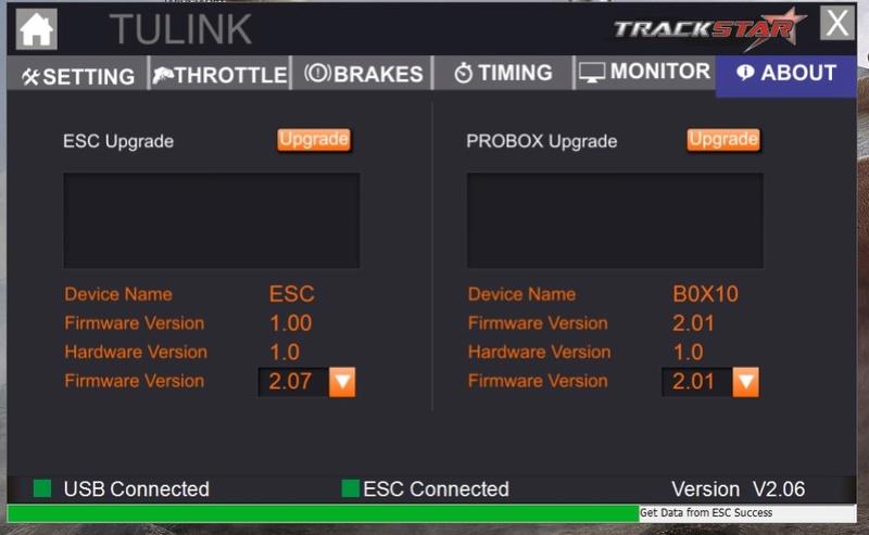 Programmation impossible ESC Turnigy trackstar 120 A Tp0510