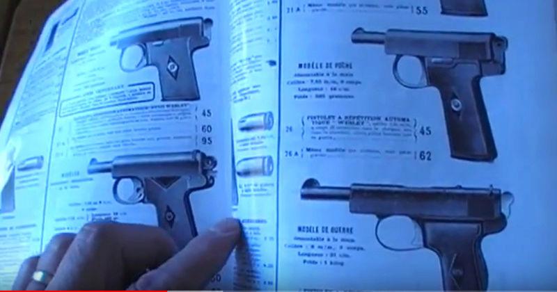Pistolet Webley & Scott modèle 1905 W210