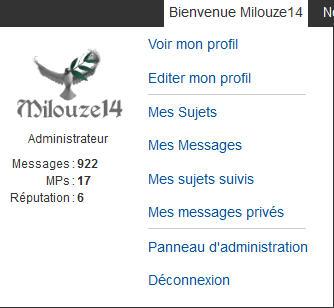 [PUNBB] Afficher l'id/ami et brouillon dans le Welcome de la toolbar 144
