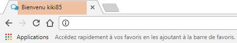 [TOUTES VERSIONS] Ajouter le texte bienvenu et le Pseudo dans l'onglet du navigateur Chrome10