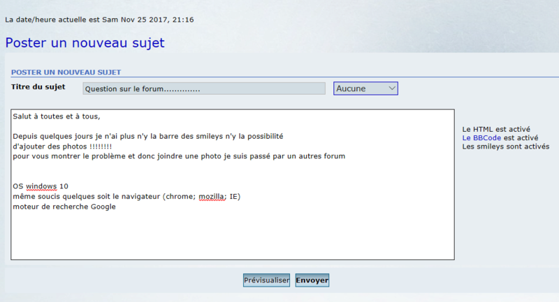 Question sur le forum.............. Pb_for10