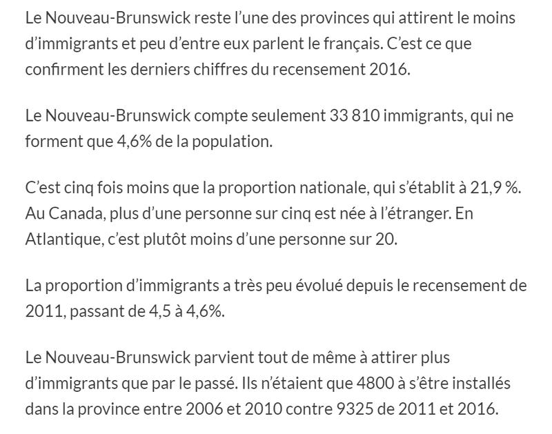 Immigration : les provinces atlantiques font du surplace 211