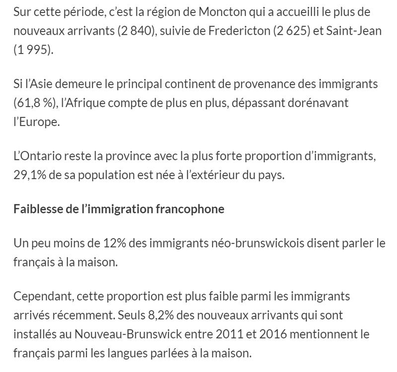 Immigration : les provinces atlantiques font du surplace 411