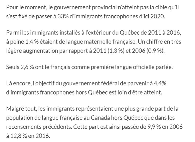 Immigration : les provinces atlantiques font du surplace 511