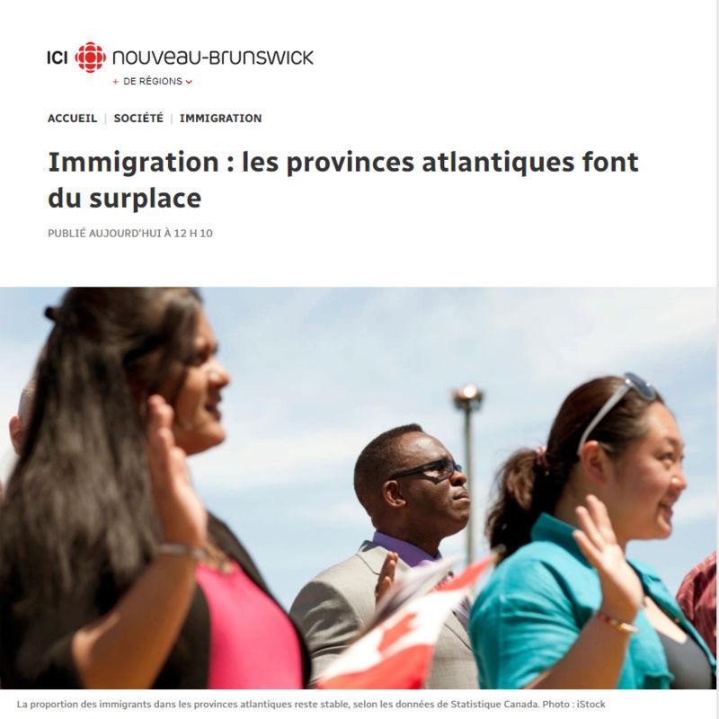 Immigration : les provinces atlantiques font du surplace A10